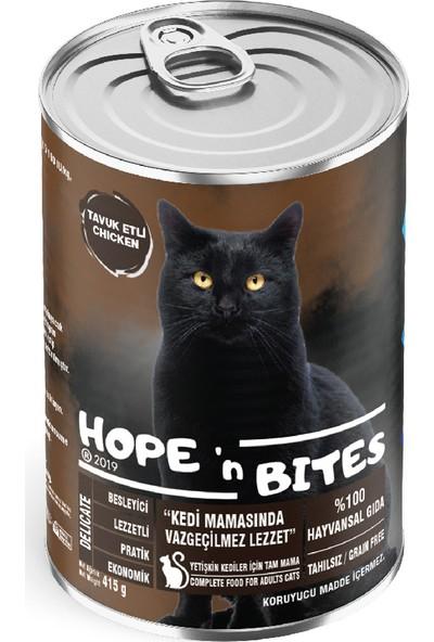 Hope'n Bites Yetişkin Tavuklu Kedi Konserve Mama 415GR