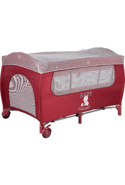 Sunny Baby Joy Plus Oyun Parkı 9142 Bordo 70X120 cm Poky