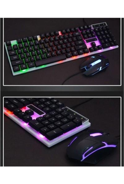 Owwotech Carboon LED Işıklı Klavye ve Mouse Seti