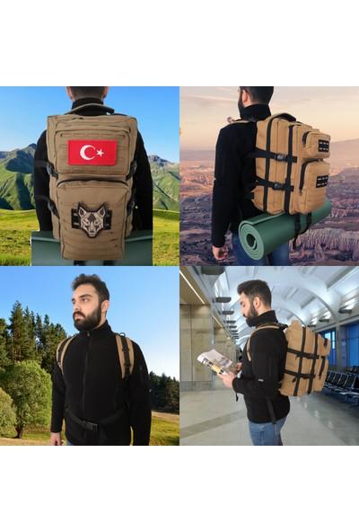 Baggor Su Geçirmez Çok Gözlü Kampçı-Seyahat-Dağcı-Outdoor-Askeri Taktik Sırt Çantası + 1 Adet Peç