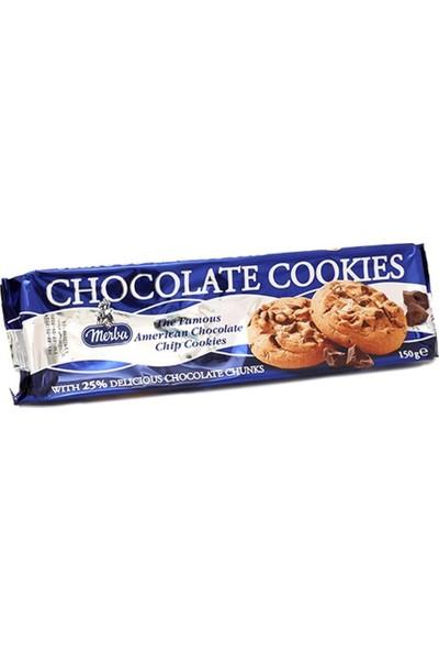 Merba Chocolate Cookies Çikolata Parçacıklı Kurabiye 150GR