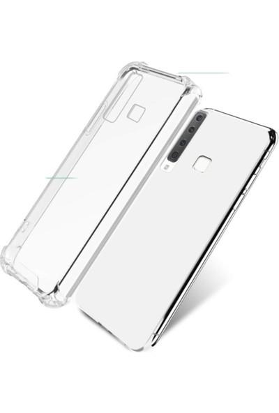 Coverest Samsung Galaxy A9 2018 Ultra Ince Şeffaf Airbag Anti Şok Silikon Kılıf Şeffaf