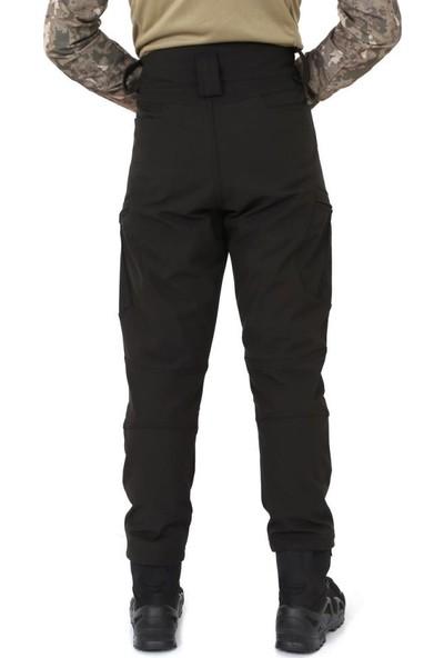 Sword Ss Likralı Su ve Rüzgar Geçirmez Siyah Softshell Pantolon