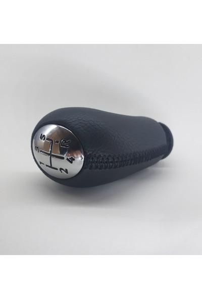 Opr Clio 4 Vites Topuzu (Siyah Deri & Siyah Dikiş)