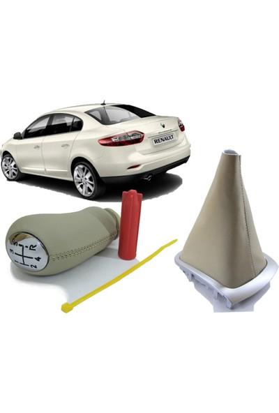 Opr Renault Fluence Bej Vites Körüğü ve Vites Topuzu Takımı (Krem)