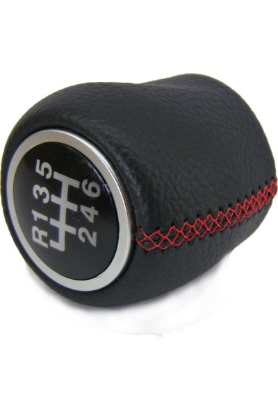 Opr Fiat Linea 6 Ileri Deri Vites Topuzu ve Körüğü (Kırmızı Dikiş)