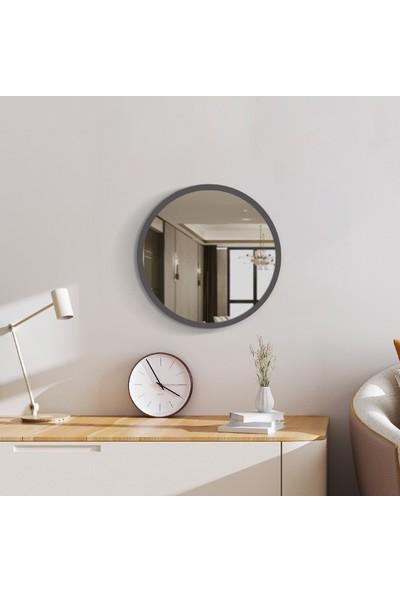 Y&E Albero Y&e Albero Dolunay Antrasit Yuvarlak Ayna