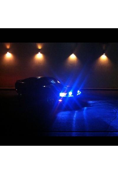 C9 Trio Üç Renk LED Xenon Far Ampulü Deli Mavi Beyaz Gün Işığı 9400 Lümen 15000K H4