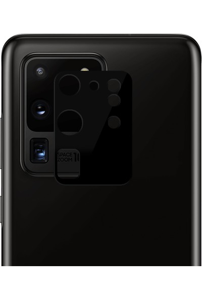 Microsonic Samsung Galaxy S20 Ultra Kamera Lens Koruma Camı V2 Siyah