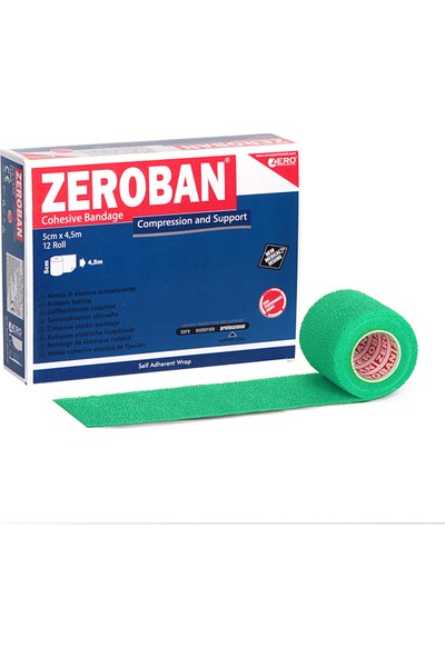 Zerosportsmed Zeroban 5cm x 4,5m Yeşil
