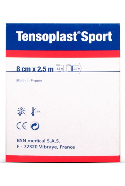 Tensoplast Sport Elastik Yapışkan Bandaj 8cm x 2,5m 4005558