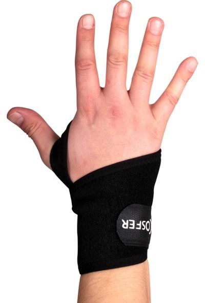 Cosfer CSF9856 Neopren Ayarlanabilir Parmaklı El Bilekliği