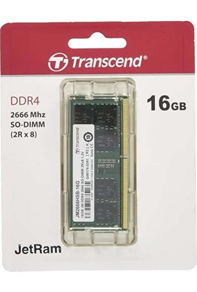 Transcend 16GB Ddr4 2666MHZ CL19 1.2V Notebook Ram