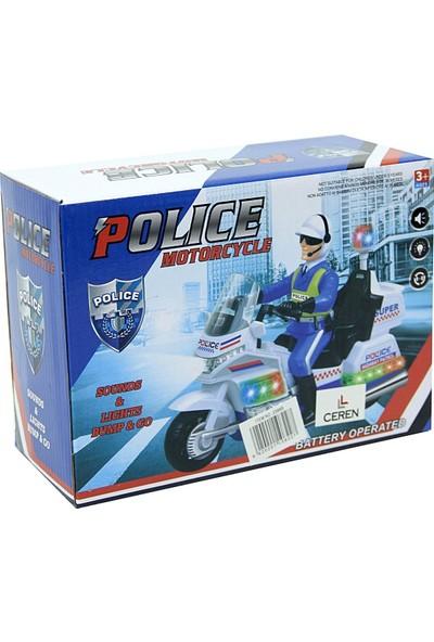 Ceren Pilli Işıklı Sesli Polis Motorsikleti