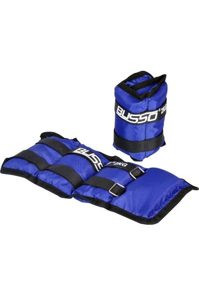 Busso BS23 Busso El Ayak Ağırlığı Mavi 2kg*2 Adet