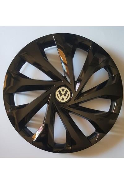 Avsaroto Volkswagen Polo 14'' Inç Piano Black Parlak Siyah 4lü Set Jant Kapağı