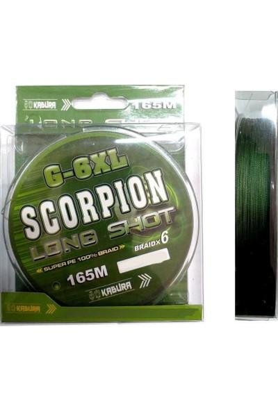 Kabura G-6xl Scorpion Long Shot Braid X6 165M 0.22MM Örgü Misina
