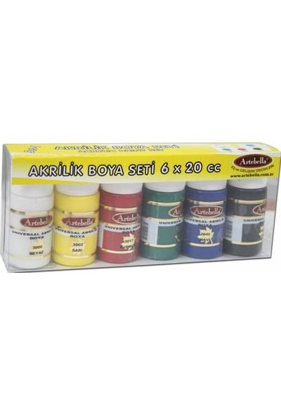Artebella ABS300020 Artebella Unıversal Akrilik Boya 6'lı Set-03 20 cc