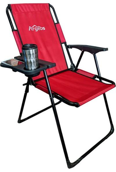 Argeus Katlanabilir Kamp Koltuğu Akıllı Desk Kırmızı