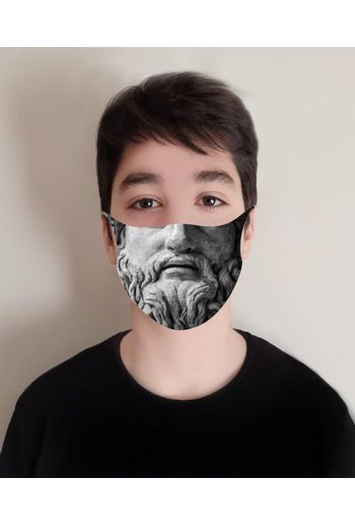 Art Face Baskılı Yıkanabilir 10'lu Yüz Maskesi Art-10-14
