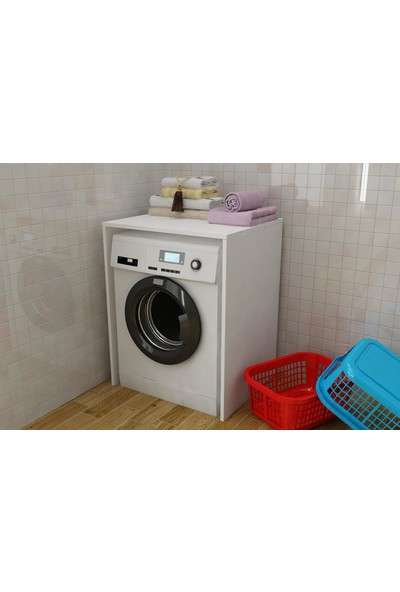Bayz Çamaşır Makinası Kurutma Makinası Dolabı Banyo Dolabı