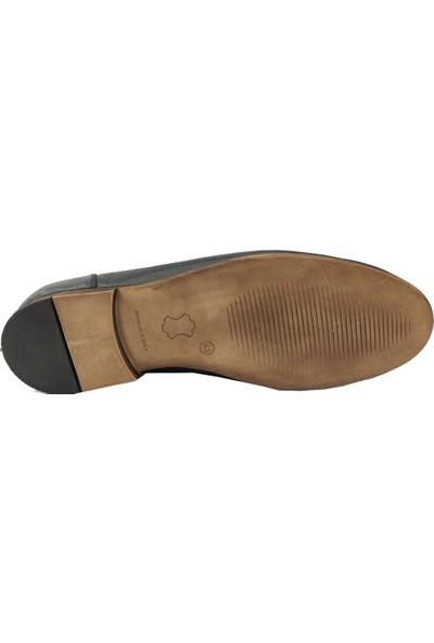 Hisaş 034 Deri Makosen Erkek Ayakkabı