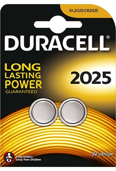 Duracell CR-2025 3 Volt Para Pil - 2 Adet