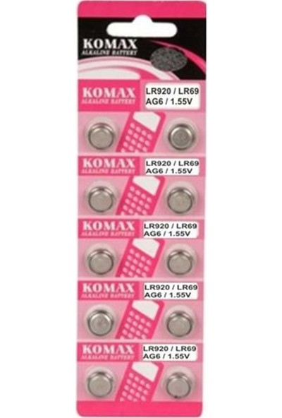 Komax Ag-0 Para Pil - 10 Adet