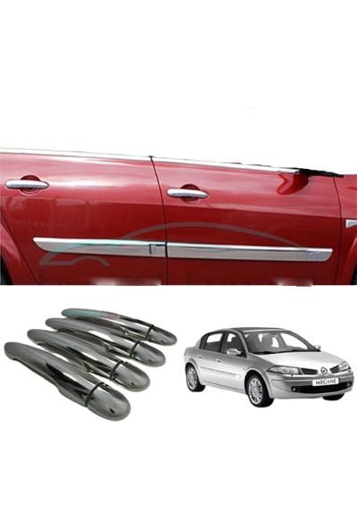 Blueoto Renault Megane 2 Kapı Kolu ( 2003 -2008 ) Paslanmaz Çelik 8 Parça