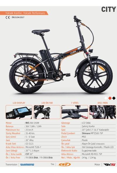 Kuba City Elektrikli Bisiklet - Siyah