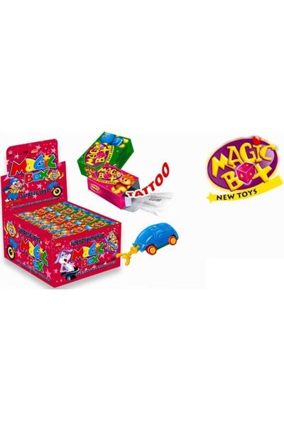 Aras Magic Box Sürpriz Oyuncaklı Tutti Frutti Aromalı Sakız 4,5 gr x 60'lı