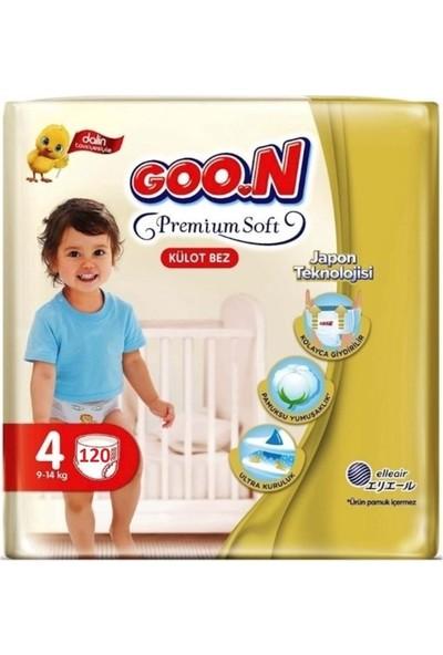 Goon Premium Soft 4 Numara Külot Bez 9-14 kg Ikiz Paket 120 Adet
