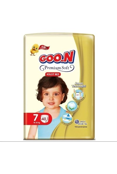 Goon Premium Soft 7 Numara Külot Bez 18-30 kg Ikiz Paket 40 Adet
