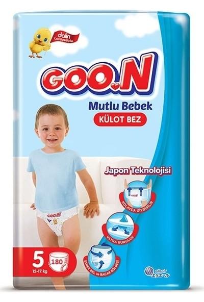 Goon Mutlu Bebek 5 Numara Külot Bez 12-17 kg Jumbo 180 Adet