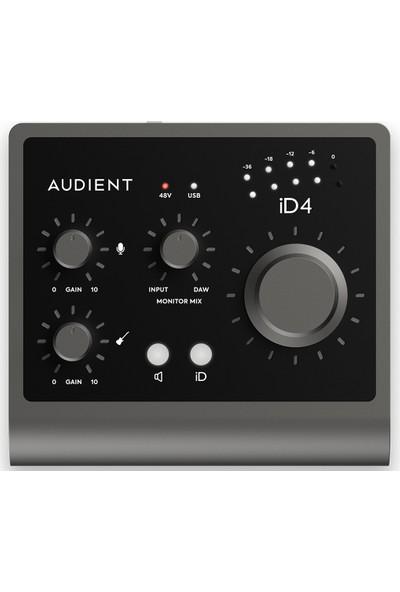 Audient Id4 MkII Yüksek Kalite Usb-C Ses Kartı: 2-Giriş/2-Çıkış 24BIT/96KHZ Ad/da Çeviriciler + 1x Class-A Audient Konsol Mikrofon Preamp + Jfet Dı