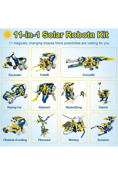 Stem 11'i 1 Arada Eğitici Solar Robot Seti (Yurt Dışından)