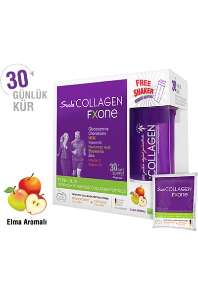 Suda Collagen Fxone Elmalı 13 gr x 30
