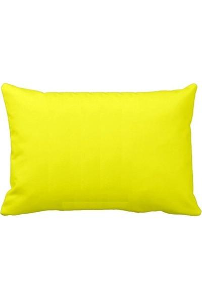 Crea Home 2'li Neon Sarı Yastık Kılıfı Pamuk