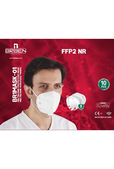 Brben 50 Adet N95 Maske Sertifikalı Faturalı