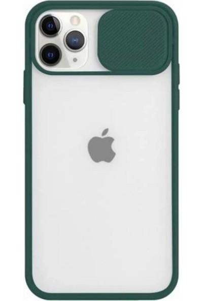 Lea Shopping Apple iPhone 11 Pro Kamera Lens Korumalı Sürgülü Lüx Kılıf Yeşil