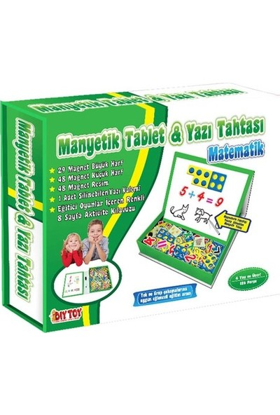Hobialem Diytoy, Manyetik Tablet, Alfabe, Matematik, Tangram, 3 Lü Set