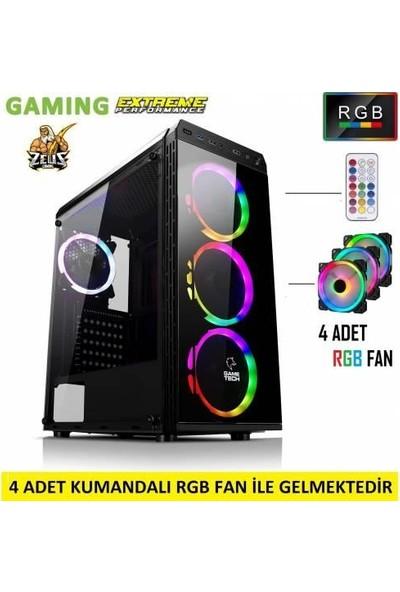 Gametech Zeus Rgb 4 Fanlı Kumandalı Kasa