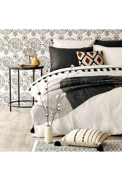 Bella Maison %100 Pamuk Tanora Tek Kişilik Nevresim Beyaz 160X220 cm