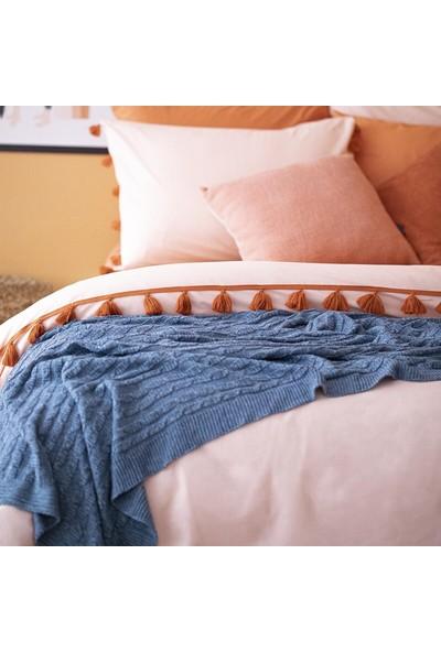 Bella Maison %100 Pamuk Tanora King Size Nevresim Somon 240X220 cm