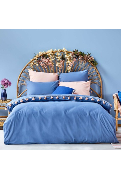 Bella Maison %100 Pamuk Tanora Tek Kişilik Nevresim Mavi 160X220 cm