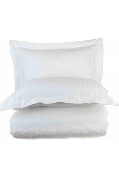 Bella Maison %100 Pamuk Arno King Size Nevresim Beyaz 240X220 cm