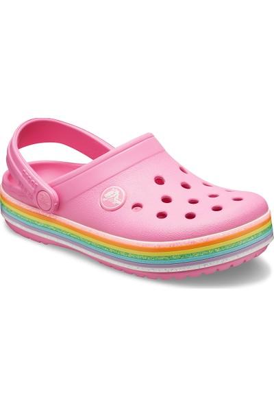 Crocs 206151-669 Crocband Rainbow Glitter Çocuk Terlik