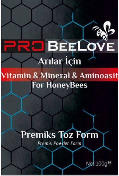 Beelove Atarlar Arıcılık Probeelove Arılar Için Vitamin, Mineral & Aminoasit 100G (3 Paket)