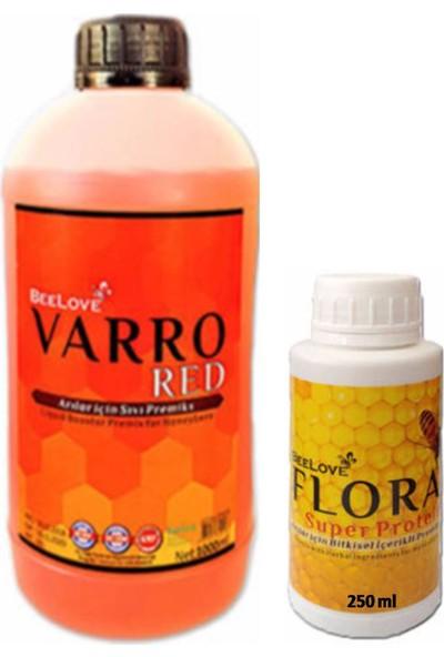 Beelove Atarlar Arıcılık Beelove Varro Red 1000 ml ve Flora Süper Protein 250 ml (1'er Adet)