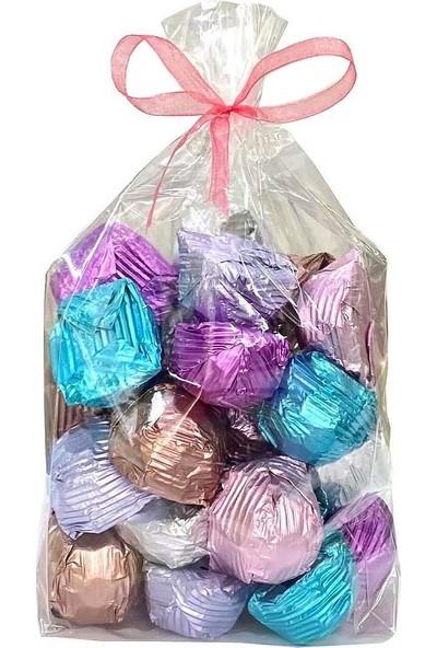 Melodi Çikolata Melodi Yaldız Kristal Fındık Kremalı Sütlü Çikolata 1 kg